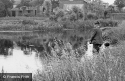 Fishing On The Lode c.1955, Burwell