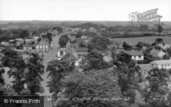 General View From Church Tower c.1955, Burwell