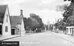 Burwell, High Street c.1955