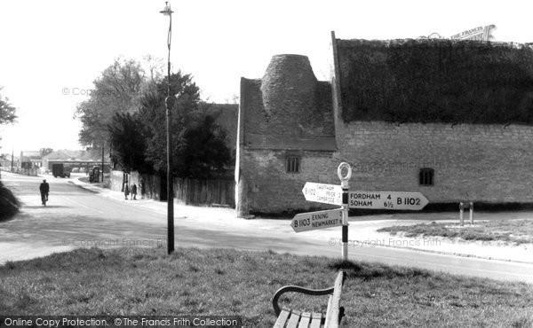 Burwell, High Street c.1955