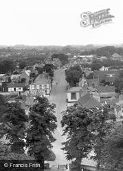 High Street From Church Tower c.1955, Burwell