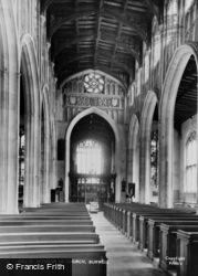 Burwell, The Church Interior c.1955
