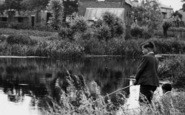 Burwell, The Lode, Boys Fishing c.1955
