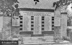 The War Memorial c.1960, Burwell