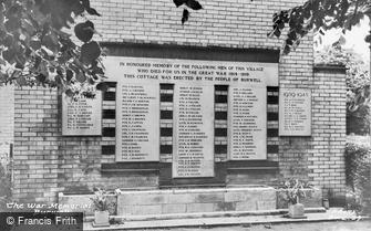 Burwell, the War Memorial c1960