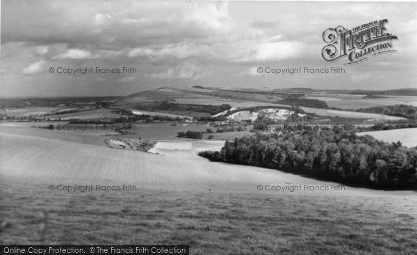 Photo of Bury, Amberley Mount From Bury Hill c.1960