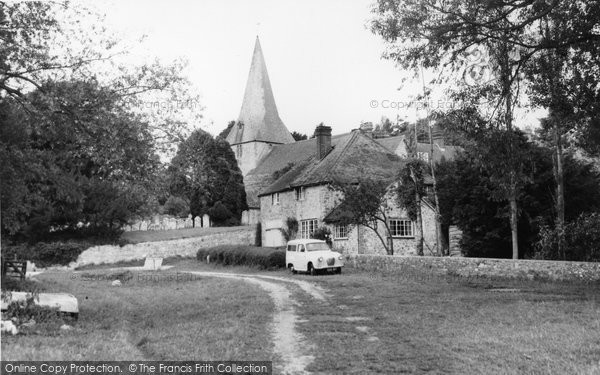 Photo of Bury, Church Of St John From The River Arun c.1960