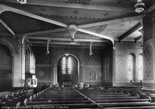 Bury, Elton, All Saints Church Interior 1896