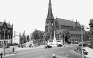 Bury, Market Place c.1955