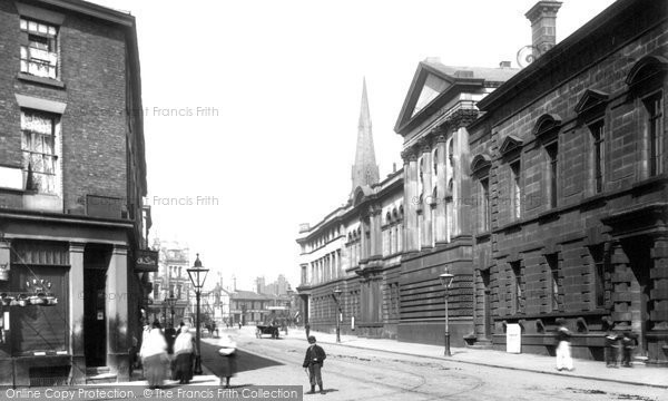 Bury, Market Street And Town Hall 1895