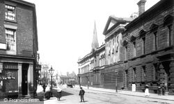 Market Street And Town Hall 1895, Bury