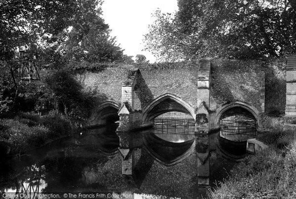 Bury St Edmunds, Abbey Bridge 1922