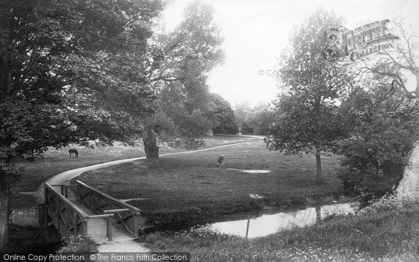 Bury St Edmunds, Abbey Gardens 1898