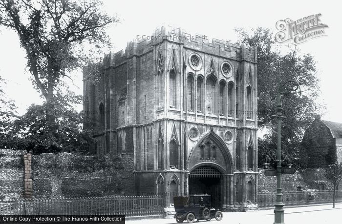 Bury St Edmunds, Abbey Gate 1922