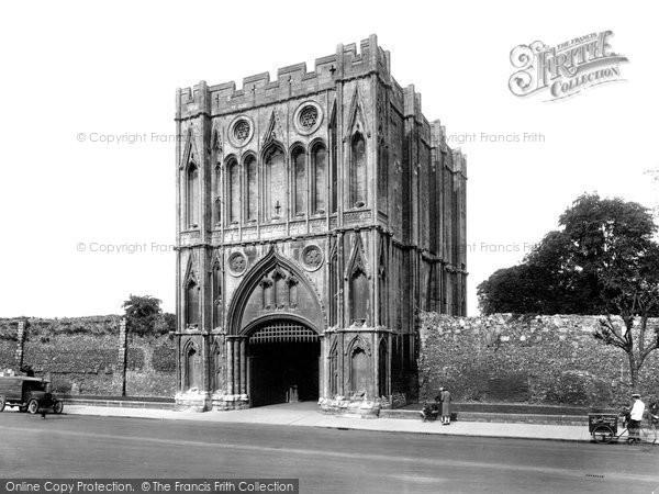 Bury St Edmunds, Abbey Gate 1929