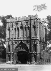 Bury St Edmunds, Abbey Gate c.1900