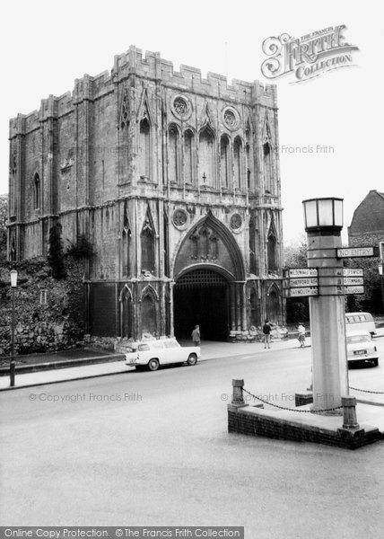Bury St Edmunds, Abbey Gate c.1965