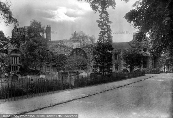 Bury St Edmunds, Abbey Ruins 1922