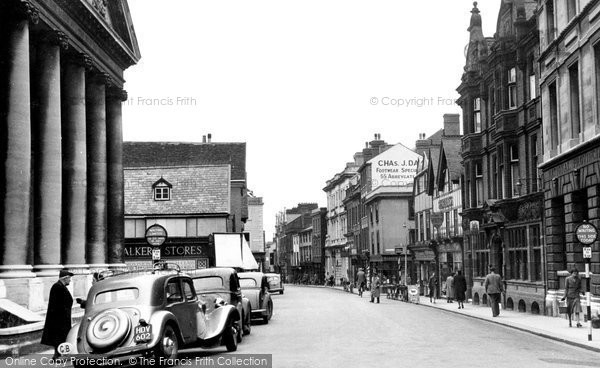 Photo of Bury St Edmunds, Abbeygate Street c.1950