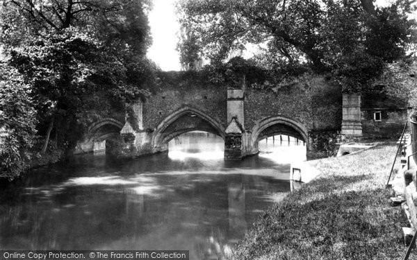 Bury St Edmunds, Abbots Bridge 1898