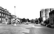 Bury St Edmunds, Angel Hill c.1955