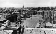Bury St Edmunds, Angel Hill From Norman Tower 1929