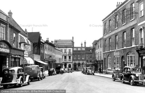 Bury St Edmunds, Buttermarket c.1950