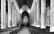 Bury St Edmunds, Cathedral Church Of St James, Interior 1922