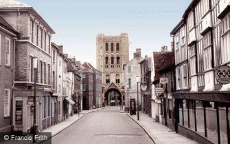 Bury St Edmunds, Churchgate Street c1955