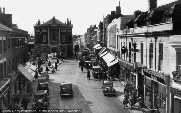 Bury St Edmunds, Cornhill c.1955