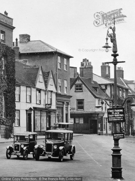 Bury St Edmunds, Parked Cars 1929