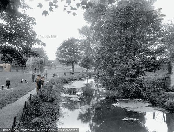 Bury St Edmunds, River Lark 1929