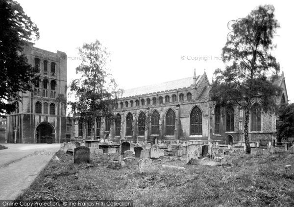 Bury St Edmunds, St James' Cathedral Church And Norman Tower c.1955