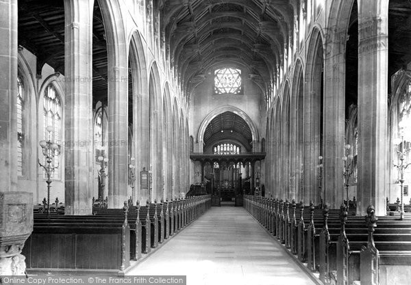 Bury St Edmunds, St Mary's Church, Interior 1922