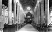 Bury St Edmunds, St Mary's Church, Interior 1922