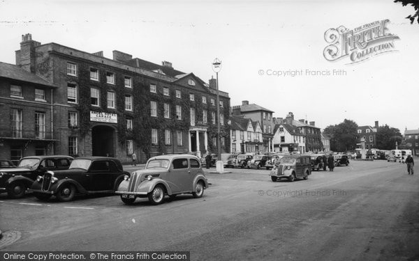 Bury St Edmunds, The Angel Hotel c.1955