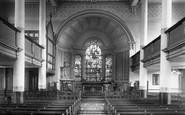 Bury, St John's Church Interior 1895