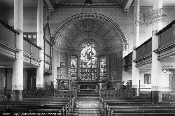 Photo of Bury, St John's Church interior 1895
