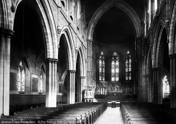 Bury, St Mary's Church Interior 1895