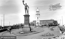 Town Hall And Clock Tower c.1955, Bury