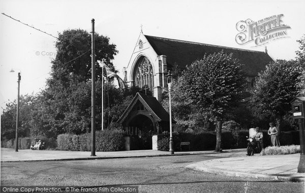 Bush Hill Park, St Stephen's Church c.1955