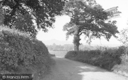 Butleigh, Glastonbury Tor From Monument Road c.1955