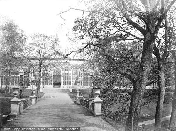 Buxton, Pavilion Bridge And Central Hall c.1871