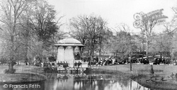 Buxton, Pavilion Gardens And Bandstand c.1872