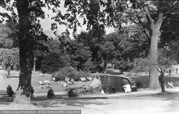 Buxton, Pavilion Gardens c.1955