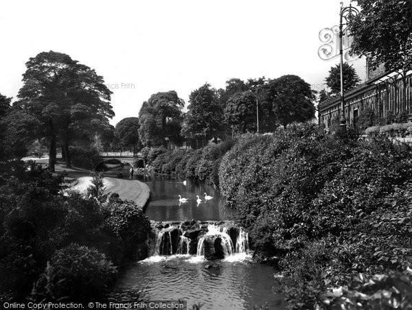 Buxton, Pavilion Gardens, The Waterfall 1932