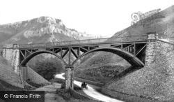 Railway Bridge Over The River Wye c.1872, Buxton