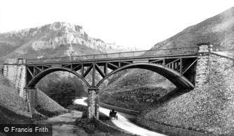 Buxton, Railway Bridge over the River Wye c1872