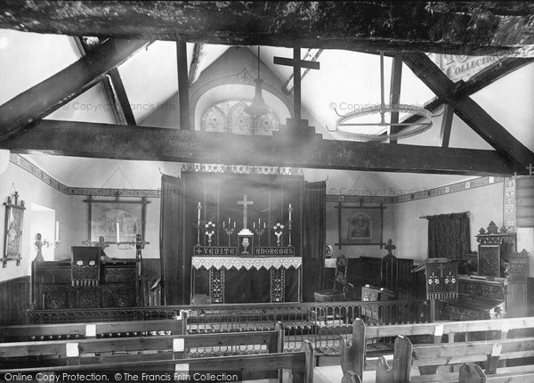 Photo of Buxton, St Anne's Church interior 1890