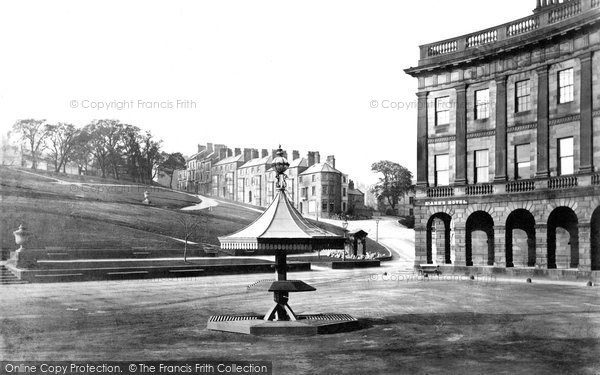Buxton, The Bandstand And Crescent c.1864